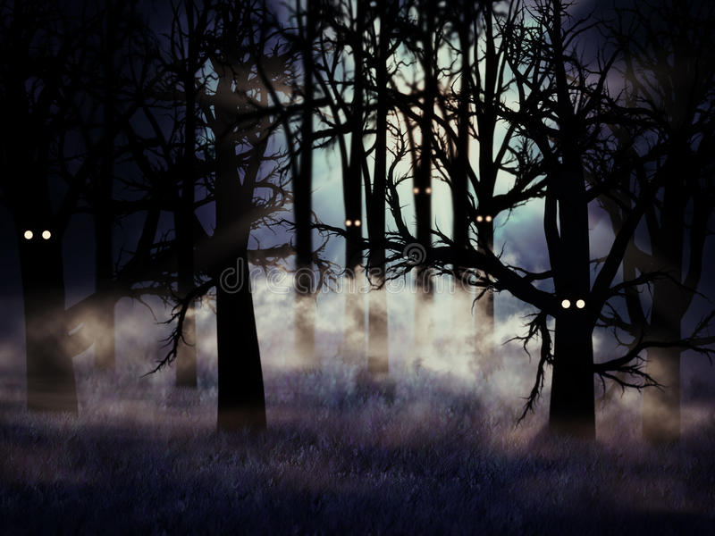 Download Halloween forest stock illustration. Image of fear, nightmare - 26473860