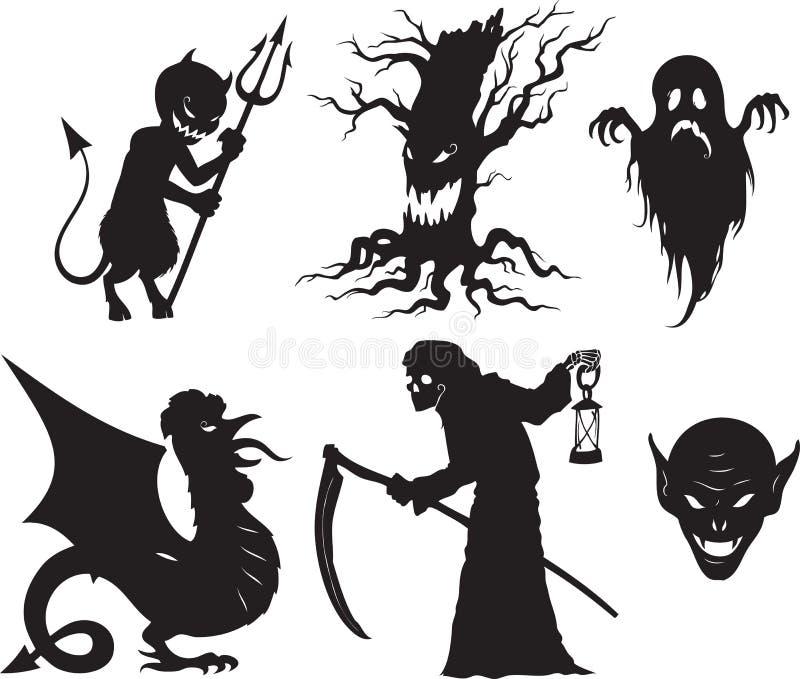 halloween former royaltyfri illustrationer