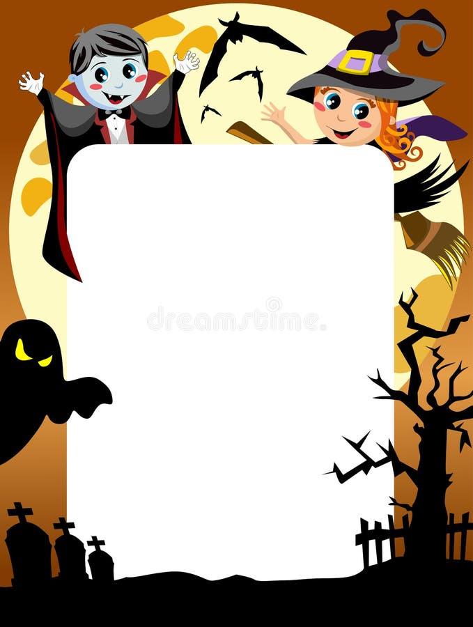 Halloween-Fotokader [3] royalty-vrije illustratie