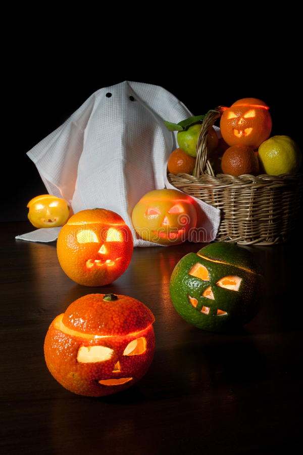Halloween-Früchte lizenzfreie stockbilder