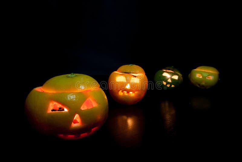 Halloween-Früchte lizenzfreies stockbild