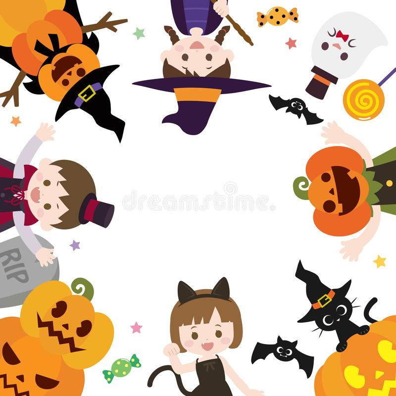 Halloween frame2 illustrazione di stock