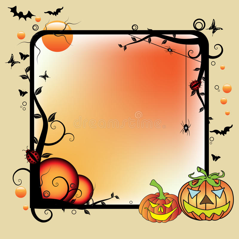 Download Halloween frame stock vector. Image of abstract, ghost - 10880230