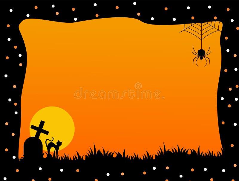 Halloween frame stock photography