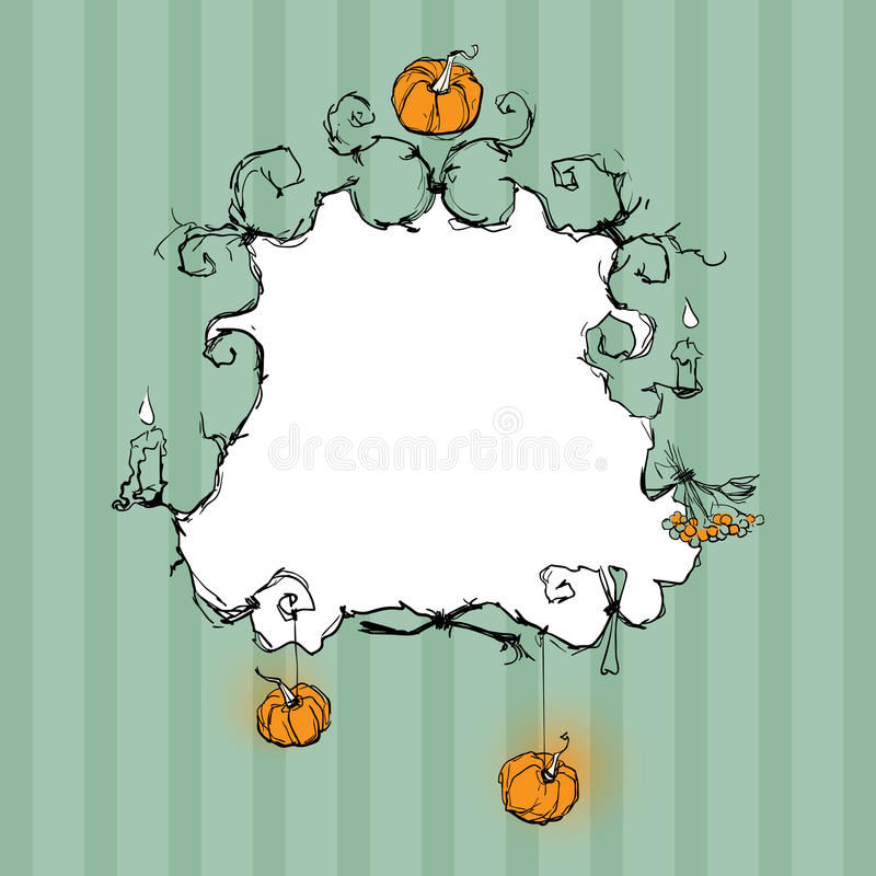 Halloween frame stock illustration