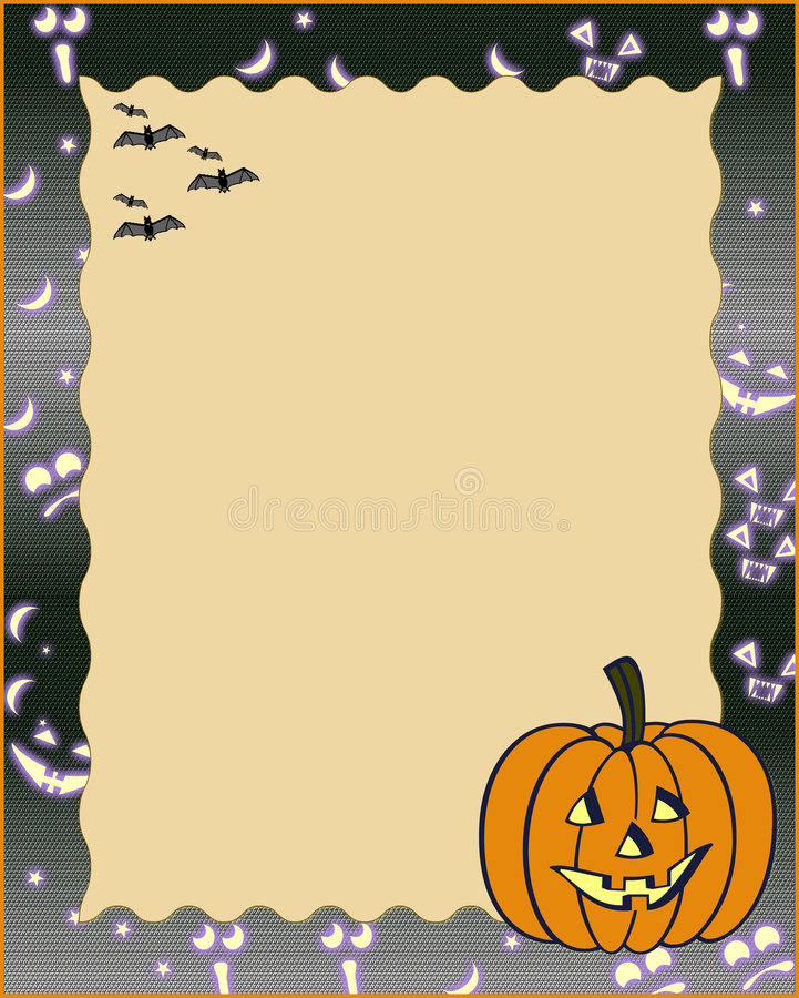 Halloween frame stock photo