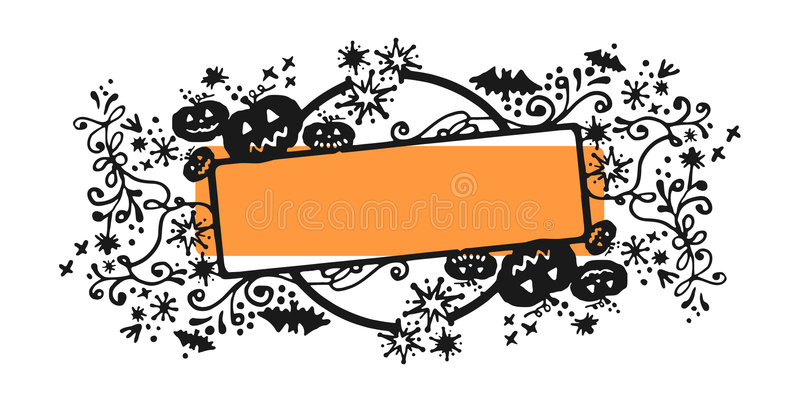 Download Halloween frame stock vector. Illustration of sketch, ribbons - 6654270