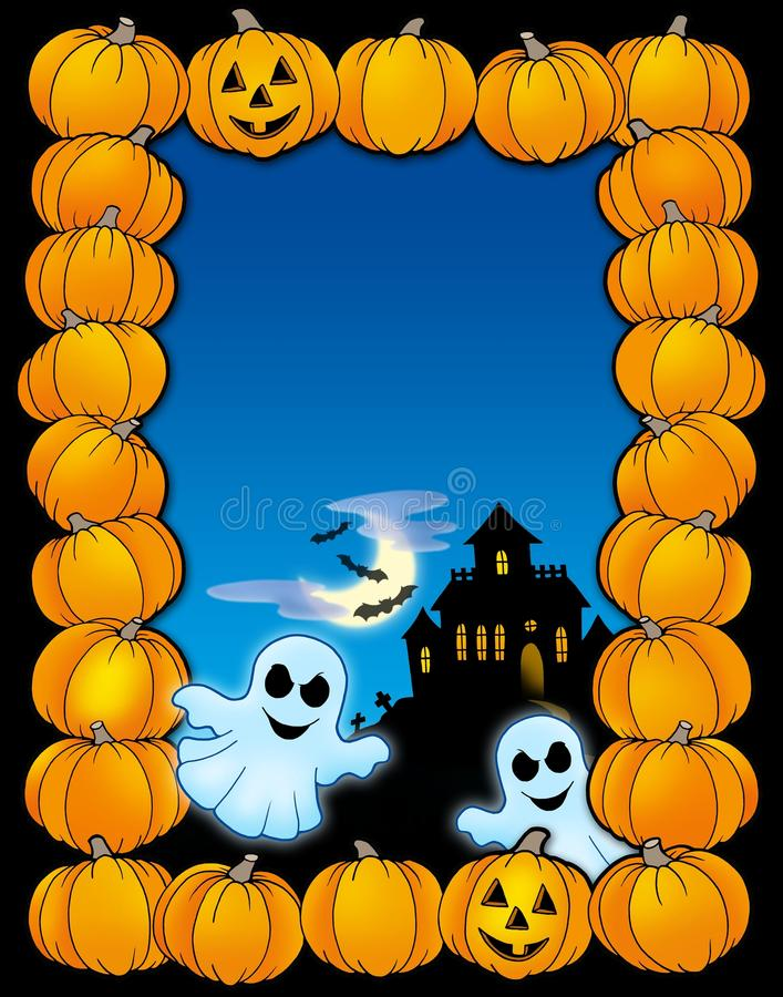 Download Halloween Frame With Ghosts Royalty Free Stock Photography - Image: 10329607
