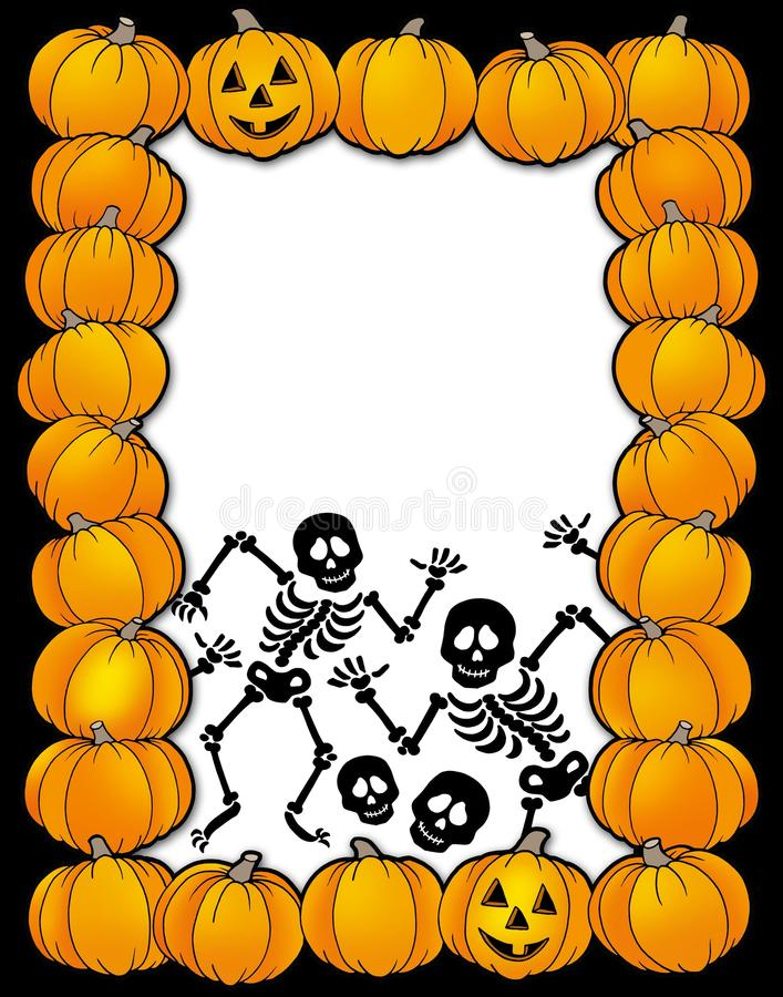 Download Halloween Frame With Skeletons Stock Illustration - Illustration: 10460484