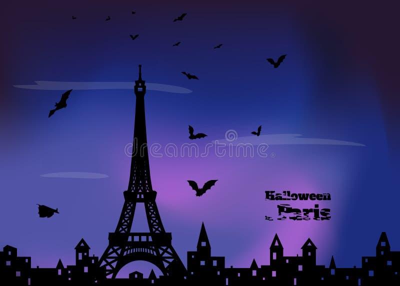 Halloween in Francia illustrazione vettoriale