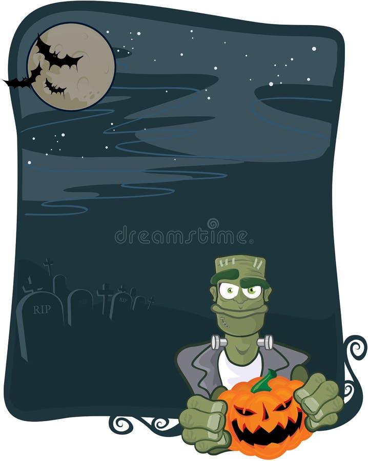 Halloween frankenstein background stock illustration