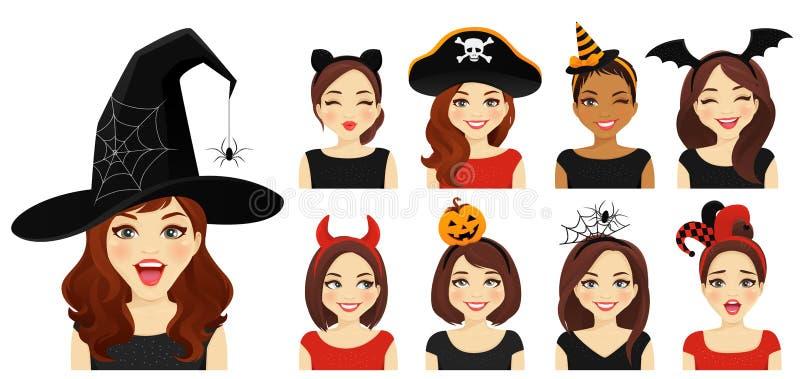 Halloween-Frau vektor abbildung