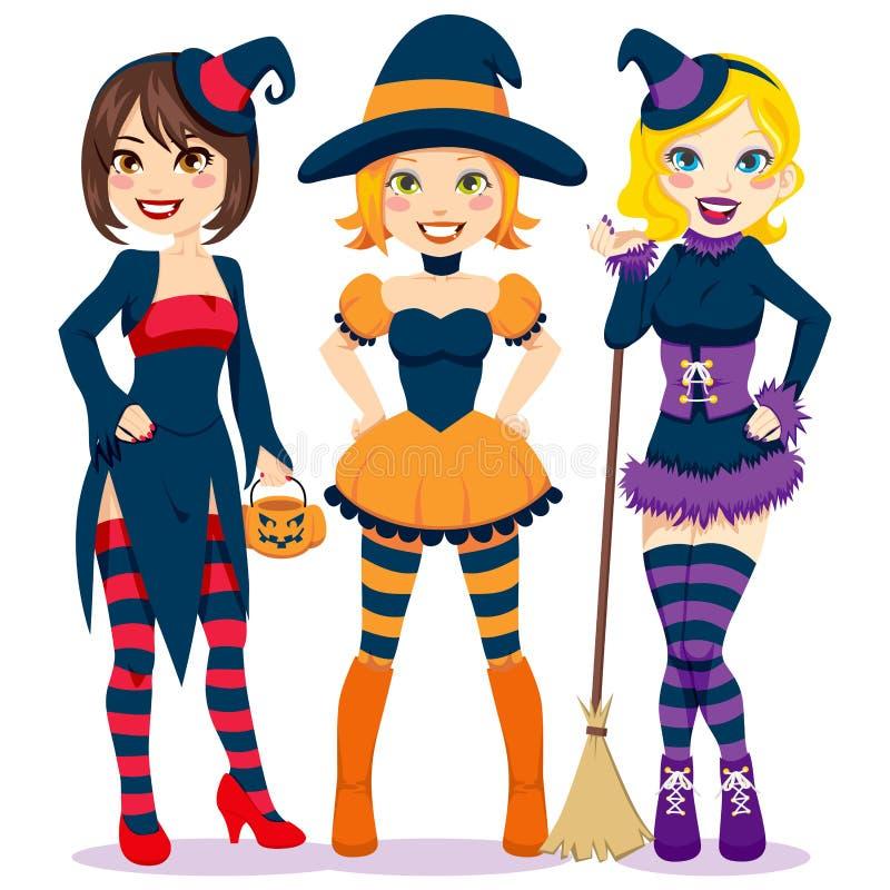 Halloween-Frauen lizenzfreie abbildung