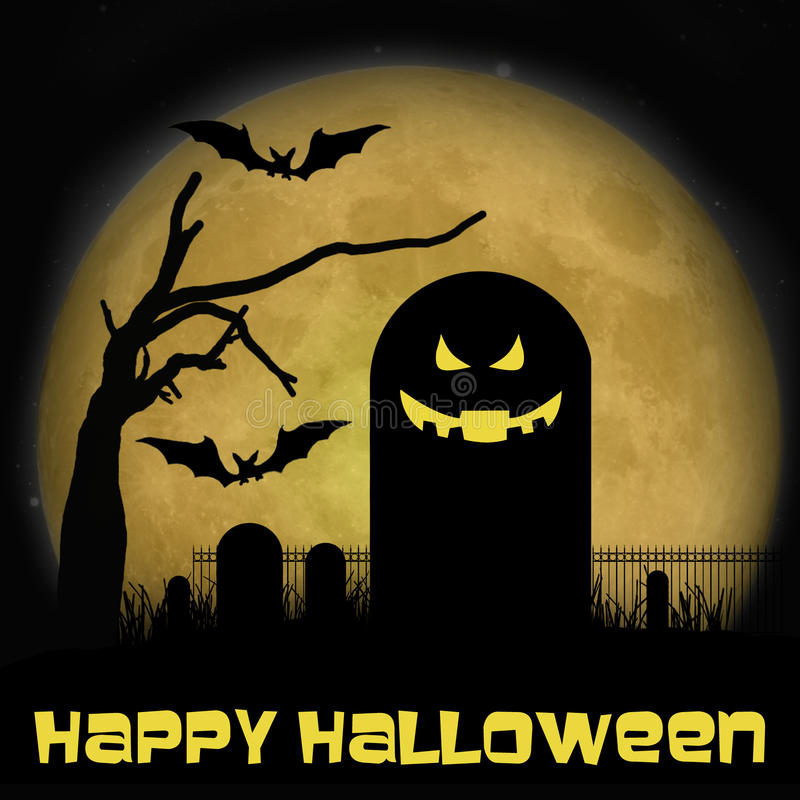 Halloween-Friedhof lizenzfreie abbildung