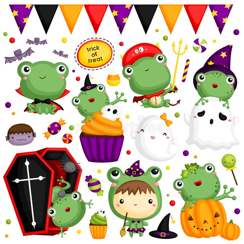 Halloween Frog vector illustration