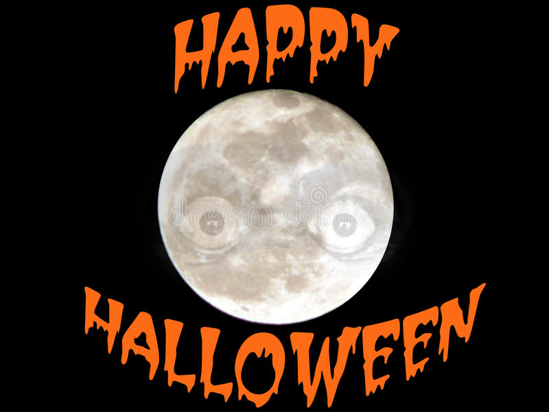Halloween Full Moon stock images