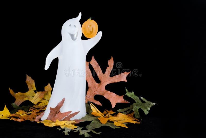 Halloween-Geist - horizontal lizenzfreie stockfotografie