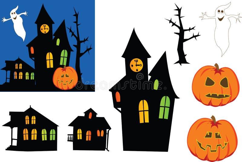 Halloween-Geister. vektor abbildung