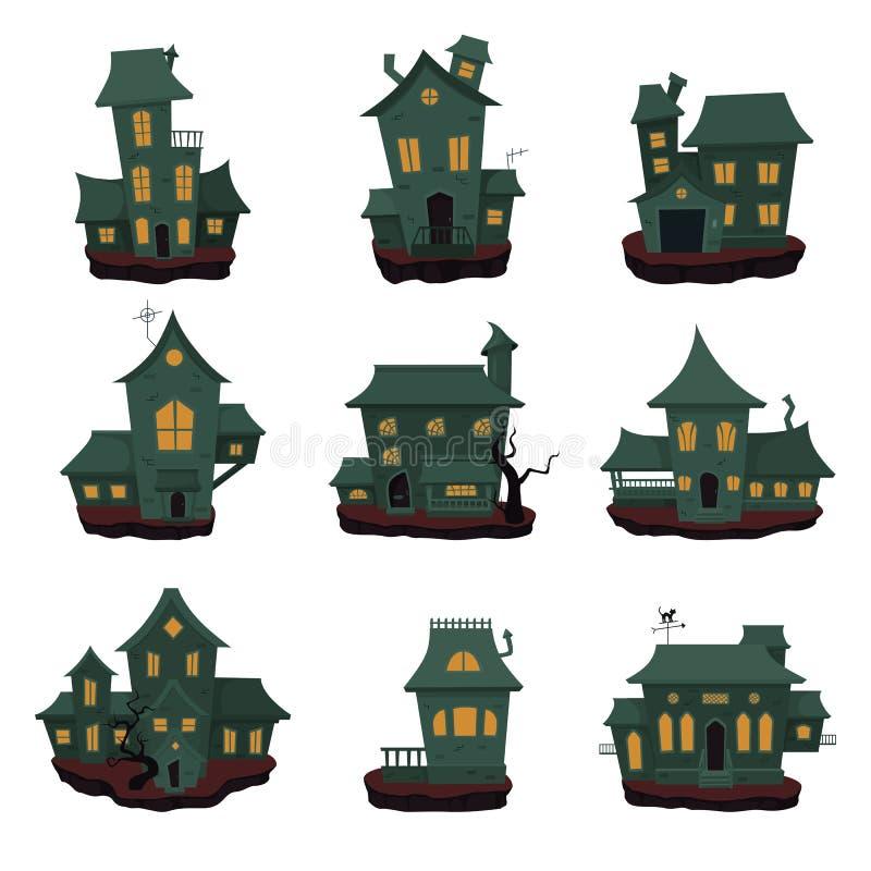 Halloween-Geisterhaussammlung vektor abbildung