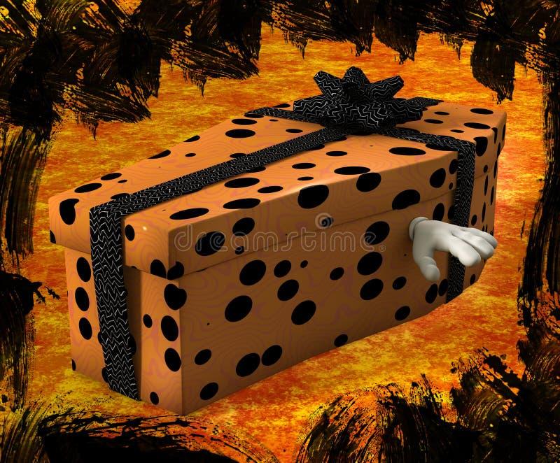 Halloween-Geschenk stock abbildung