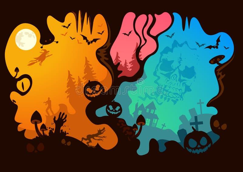 Halloween-Geschichte lizenzfreie abbildung