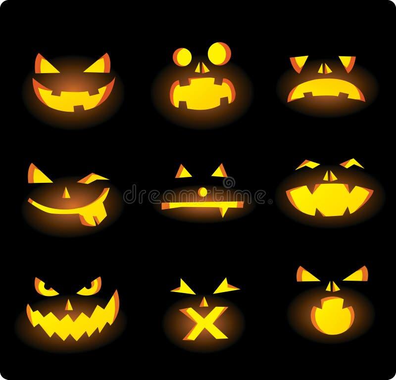 halloween gesichter vektor abbildung illustration von halloween 20504031. Black Bedroom Furniture Sets. Home Design Ideas