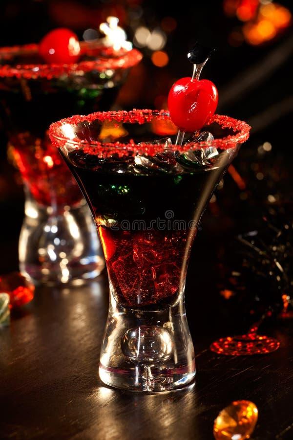 Halloween-Getränke - Blut-Cocktail des Teufels lizenzfreie stockfotografie