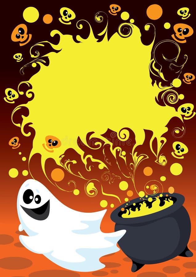 Download Halloween ghost card stock vector. Illustration of cartoon - 21267890