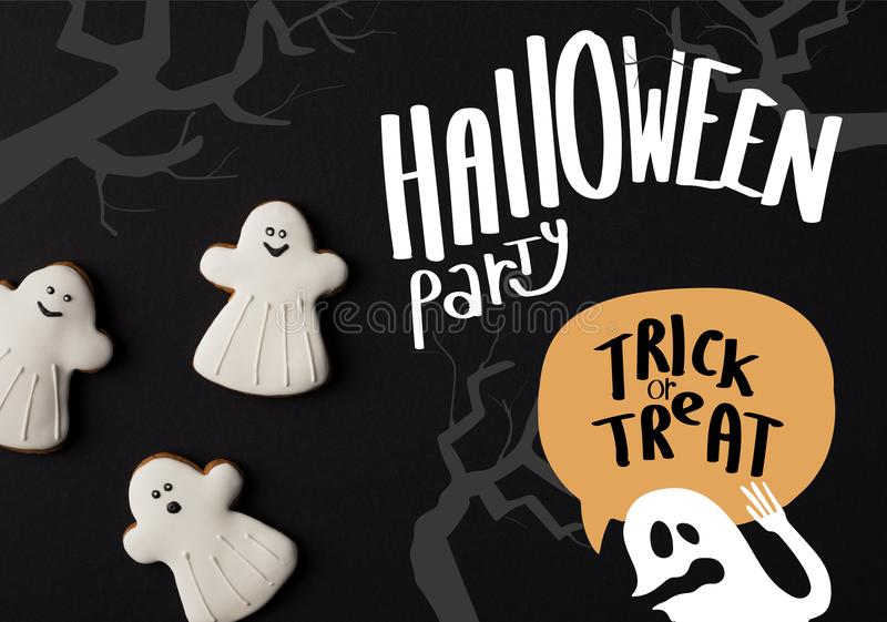 halloween ghost cookies stock photos