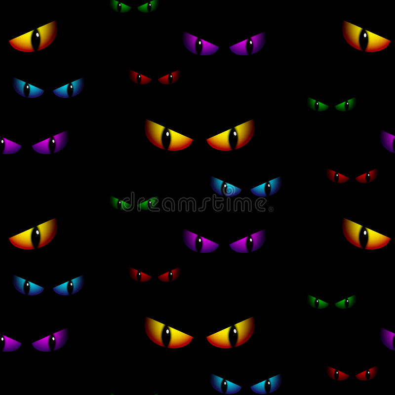 Free Halloween Ghost Eyes Seamless Background Vector Royalty Free Stock Image - 33801676