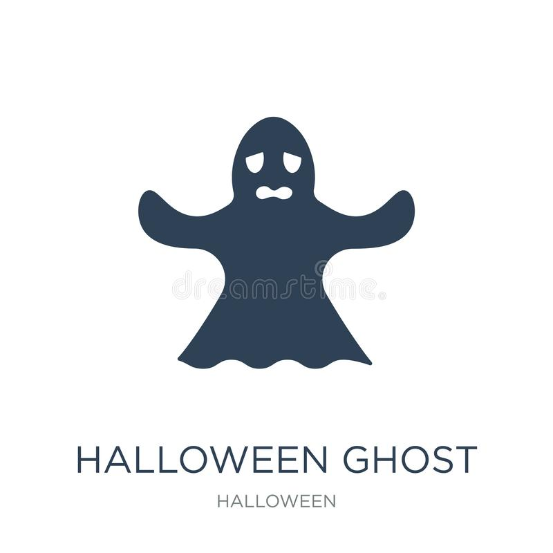 halloween ghost icon in trendy design style. halloween ghost icon isolated on white background. halloween ghost vector icon simple royalty free illustration