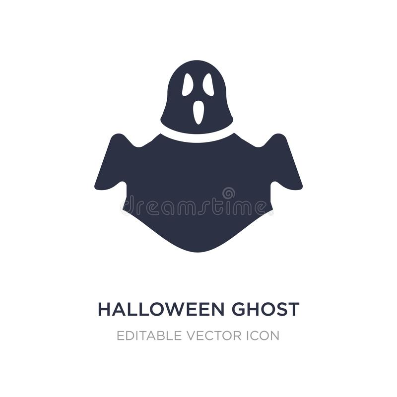 halloween ghost icon on white background. Simple element illustration from Halloween concept vector illustration