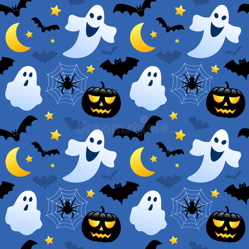 Free Halloween Ghosts Seamless Stock Photos - 34542383