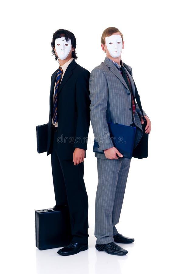 Halloween-gierige Geschäftsmänner stockfotografie