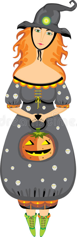 Download Halloween Girl Costume  Witch Isolated Stock Vector - Illustration: 24248210