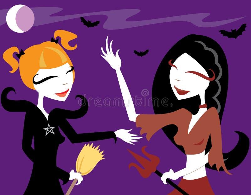 halloween glädje royaltyfri illustrationer