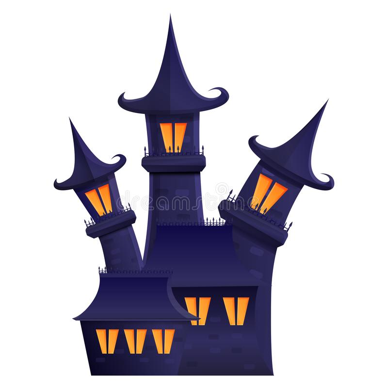 Halloween gloomy estate cartoon icon. Vector illustration stock illustration
