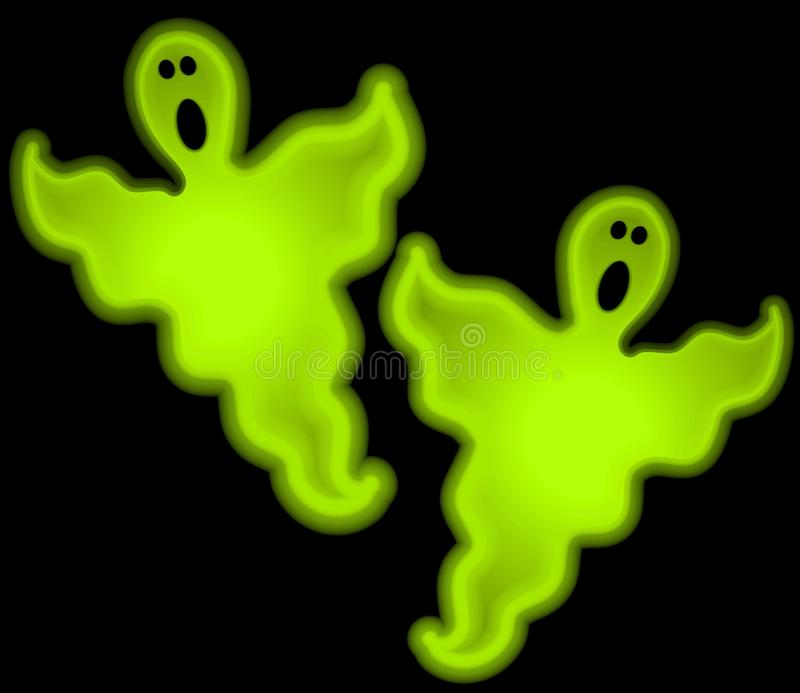 Halloween Glow Ghosts Clip Art Free Stock Photography