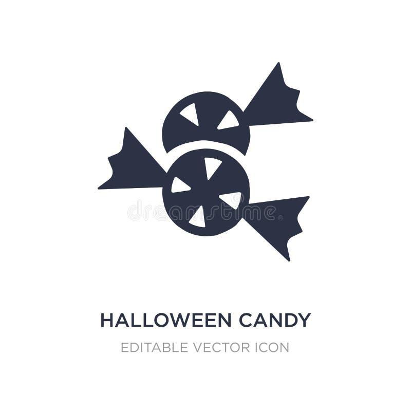 halloween godissymbol på vit bakgrund Enkel beståndsdelillustration från allhelgonaaftonbegrepp vektor illustrationer