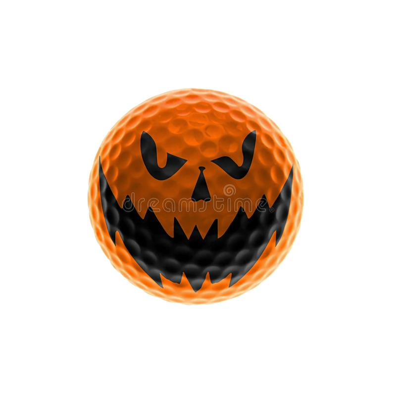 Halloween-Golfball lizenzfreie abbildung
