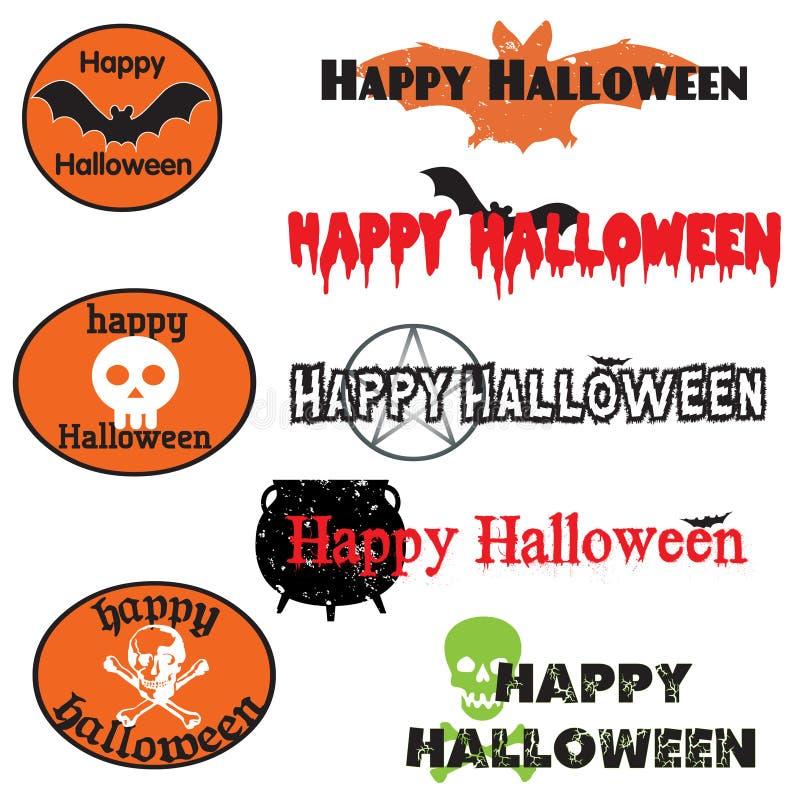 Halloween-Grafiken lizenzfreie abbildung
