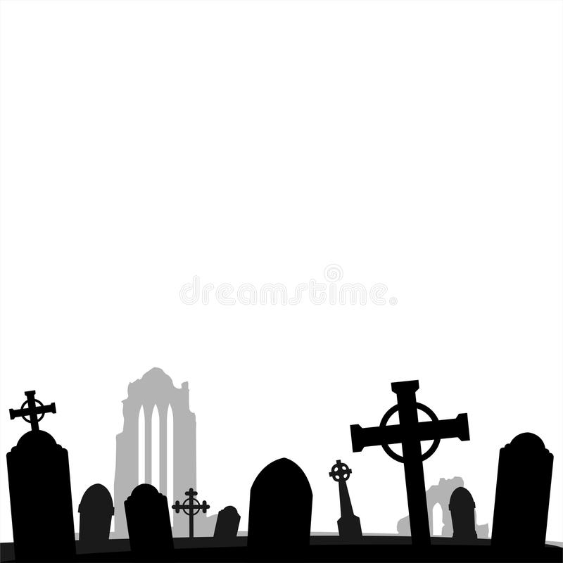 Halloween graphic card background royalty free illustration