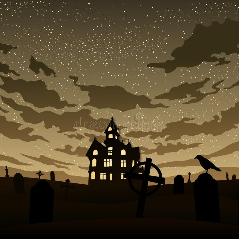 Halloween graphic card background stock illustration