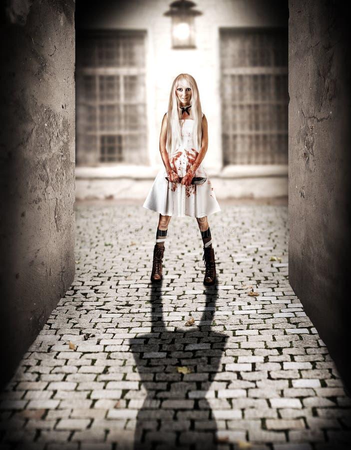 Halloween-Grausigkeitskonzept lizenzfreie stockfotos