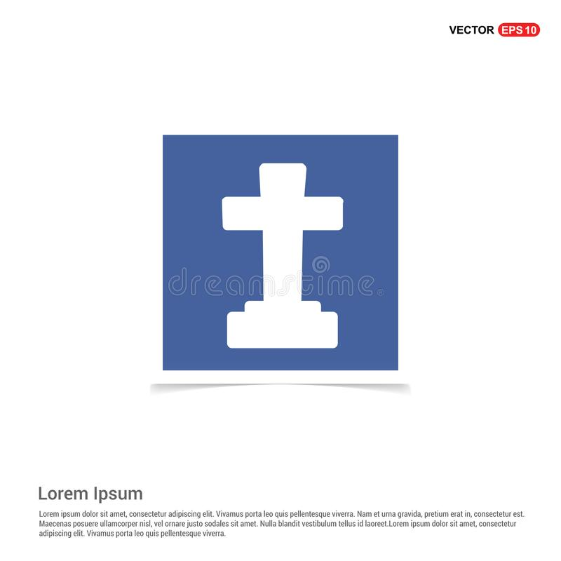 Halloween Grave Cross icon - Blue photo Frame. This Vector EPS 10 illustration is best for print media, web design, application design user interface and stock illustration