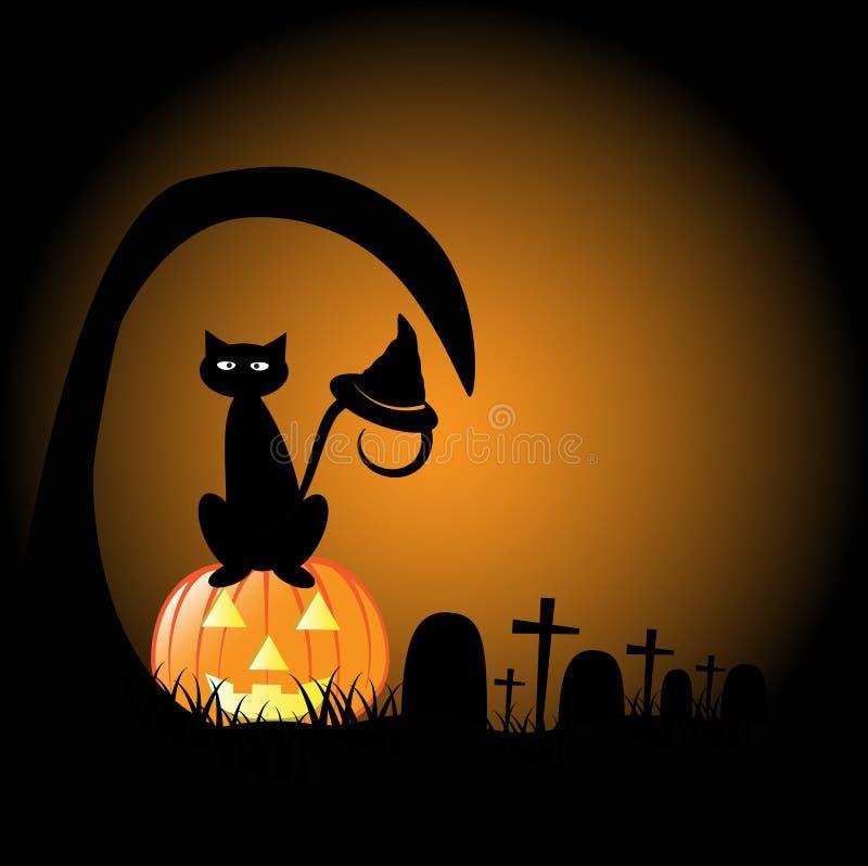 Halloween Graveyard royalty free illustration