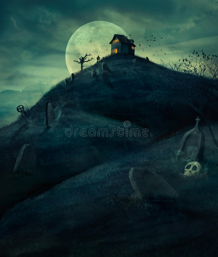 Free Halloween Graveyard Stock Photo - 44085150