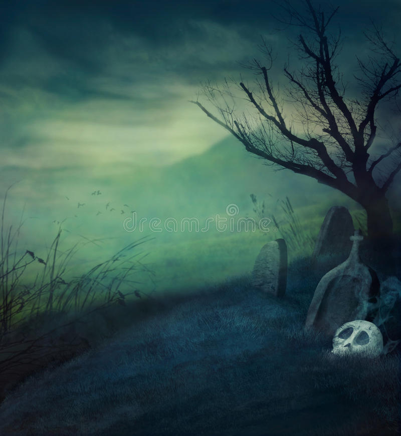 Free Halloween Graveyard Stock Photo - 44295820