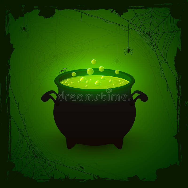 Free Halloween Green Background With Potion Stock Images - 43878804