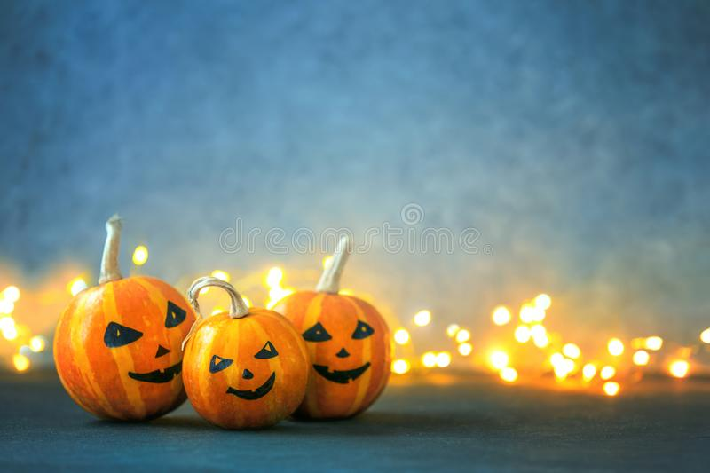 Halloween greeting background with copy space stock image